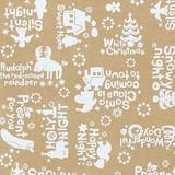 クリスマスギフトラッピング 包装紙 ホワイトイヴ