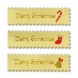 クリスマスギフトラッピング XMASシール クリスマスメロディー