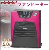 部屋を引き立たせる鮮やかなピンクのファンヒーター【限定発売.日本製.灯油+電気暖房.防寒.おしゃれ】