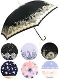 通年新作)雨傘・長傘−婦人 婦人レース・猫・ロンドン・花・鳥柄ジャンプ雨傘