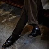 < London shoe make Oxford and Derby> 【牛革】マッケイ製法 メンズ ドレスローファー 1003