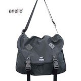anello High Density Nylon Print Messenger Bag