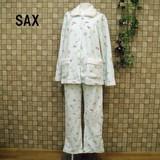【冬物ナイトウェアー】あったかマイクロフリース♪エリボアふわもこパジャマ