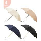 【雨晴兼用】長傘(UVカット&軽量 )ジャンプ傘ピンドット UVカット率97.8%以上