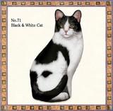 【アメリカ製】猫のドアストッパー(Black &white Cat)