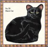 【アメリカ製】猫のドアストッパー(Black Cat)