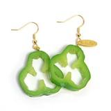 Smallish Green Pepper Pierced Earring