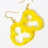 Smallish Paprika Pierced Earring Yellow