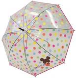 【NEW!!!】☆くまのがっこう☆ジャッキー 透明POE傘☆55cm☆カラフル水玉柄