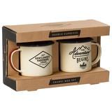 『Enamel Espresso Set』ホーローのエスプレッソマグ2pcs set(IVORY)