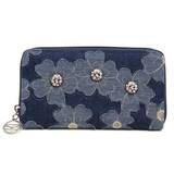 【SAVOY(サボイ)】デニム地に花柄を合わせた財布