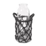 編み籠入り 花瓶(シングル)