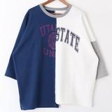 【2017年SS新作】リメイク切替え長袖Tシャツ