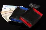 ★IGS-103★イギンボトム&サラマンダー コラボレーション企画 カーボン調ボンデッドレザー縦型財布