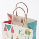 Nordic Christmas Handle Christmas Handbag Bag Paper Bag