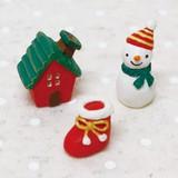 【クリスマス特集】 ミニミニフレンズセット スノーマン&ハウス (ノーティーアニマルマスコット)