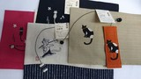 猫のブックカバー パート5 日本製 同柄しおり  音楽モチーフ