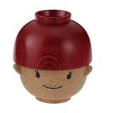 まんぷくお嬢ちゃん【木製】【茶碗】【日本製】