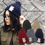 ★新作★ラベルデザインニット帽★帽子506★