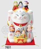 Ornament Seven Deities Of Good Luck Beckoning cat Size 8
