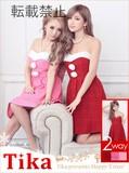 【サンタコスチューム♪】【Tika ティカ】2set2wayベアサンタミニドレス