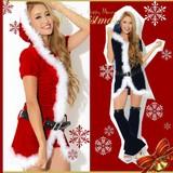 【クリスマス*上質】ワンピース&ショーパン付き♪SEXY&CUTEサンタドレス コスチューム サンタコスプレ