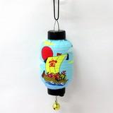 <和雑貨・和土産>光る提灯(ミニ)吸盤付き 宝船ブルー 長型 (商品No.303-303)