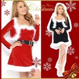 【クリスマス*上質】ボレロ&ベルト付き♪ベアトップSEXY&CUTEサンタドレス コスチューム サンタコスプレ