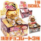焼きチョコ 3種 チョコレート イチゴ プリン 駄菓子
