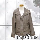 【2016年春の新作御提案!!】落ち着いた光沢のミセス向けのライナー付デザインジャケット♪
