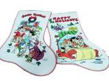 フリントストーンの装飾用クリスマス靴下【フリントストーンXmasソックス】