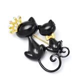 【ギフトショー春2017】2匹のお座り黒猫のブローチ