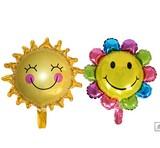 パーティーバルーン     風船     太陽/サン/笑顔/スマイル/フラワー  2型