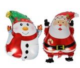 クリスマスバルーン   スノーマン/サンタクロース 風船