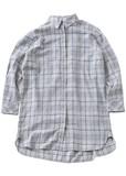 チェックロング丈シャツ