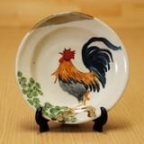 松に鳥 5寸絵皿 (皿立付)