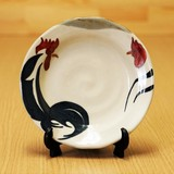 渕鳥紋 5寸絵皿 (皿立付)
