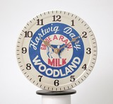 Milk Cap Wall Clock Woodland Clock/Watch