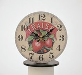 Old Look Table Clock Strawberry Clock/Watch