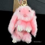 【ウサギ】ファーチャーム&キー ホルダー 054169