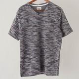 <即納>【2017SS新作】スラブニットソーVネック半袖Tシャツ<実績商品><売れ筋>
