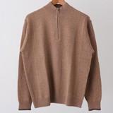 【SALE】<秋冬>7G(ゲージ)ハーフZIP(ジップアップ)セーター(ミドルゲージニット)
