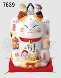 Ornament Seven Deities Of Good Luck Beckoning cat Size 5