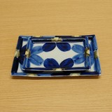 藍花 長角皿 (大/小)