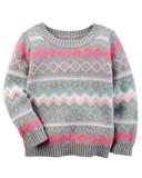 【SALE】Carter's カーターズ セーター グレーXピンク ★
