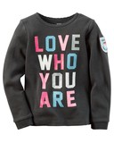 【SALE】Carter's カーターズ ロングTシャツ LOVE WHO YOU ARE ★