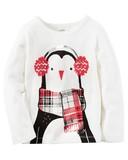 【SALE】【2016年秋冬】Carter's カーターズ ロングTシャツ ペンギン