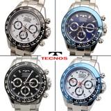 【TECHNOS】 テクノス クロノグラフ腕時計 T4485