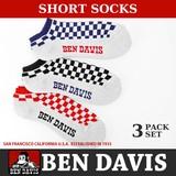 ベンデイビス Ben Davis 靴下 アンクルソックス くつ下 ベンデービス 3足セット