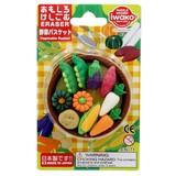 IWAKO Vegetables Basket Blister Pack Eraser